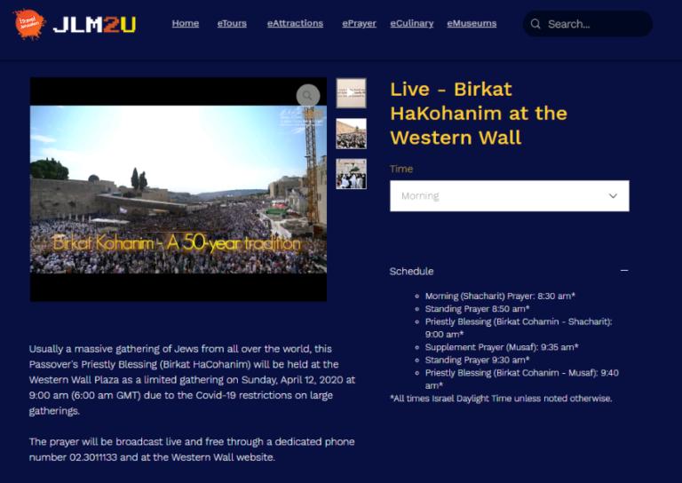 Ahora en Live .Jerusalem les trae las oraciones de 3 de las más importantes religiones del mundo