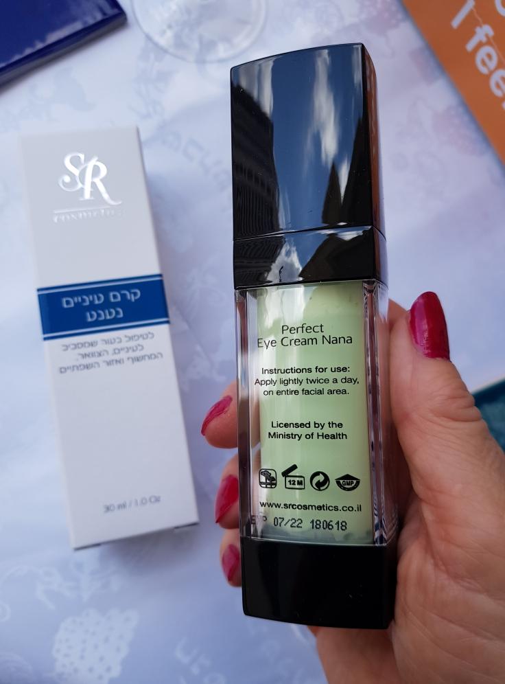 Nueva crema de menta para los ojos de la empresa  SR Cosmetics